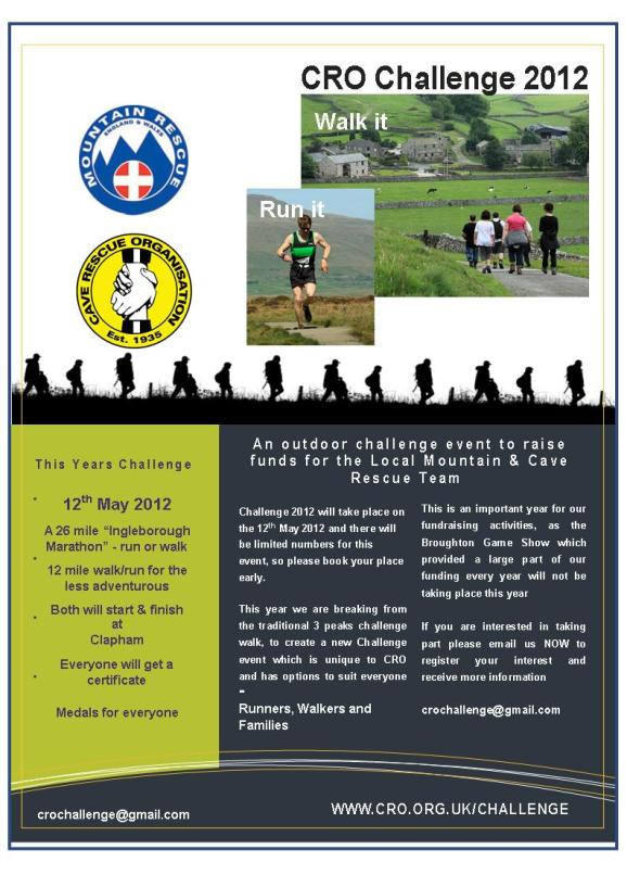Flyer for CRO Challenge 2012