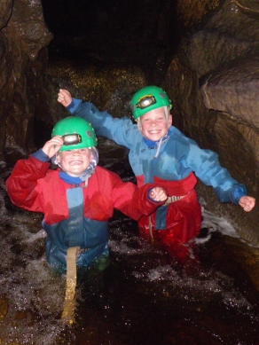 Happy Young Cavers